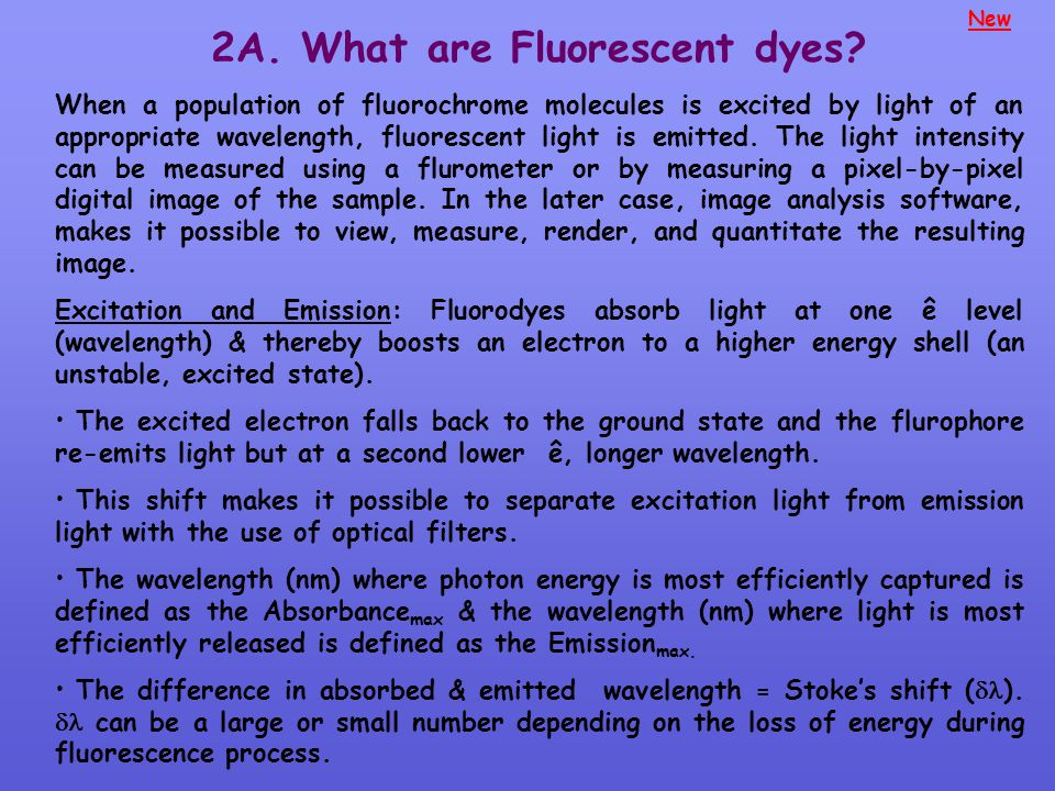 2A. What are Fluorescent dyes