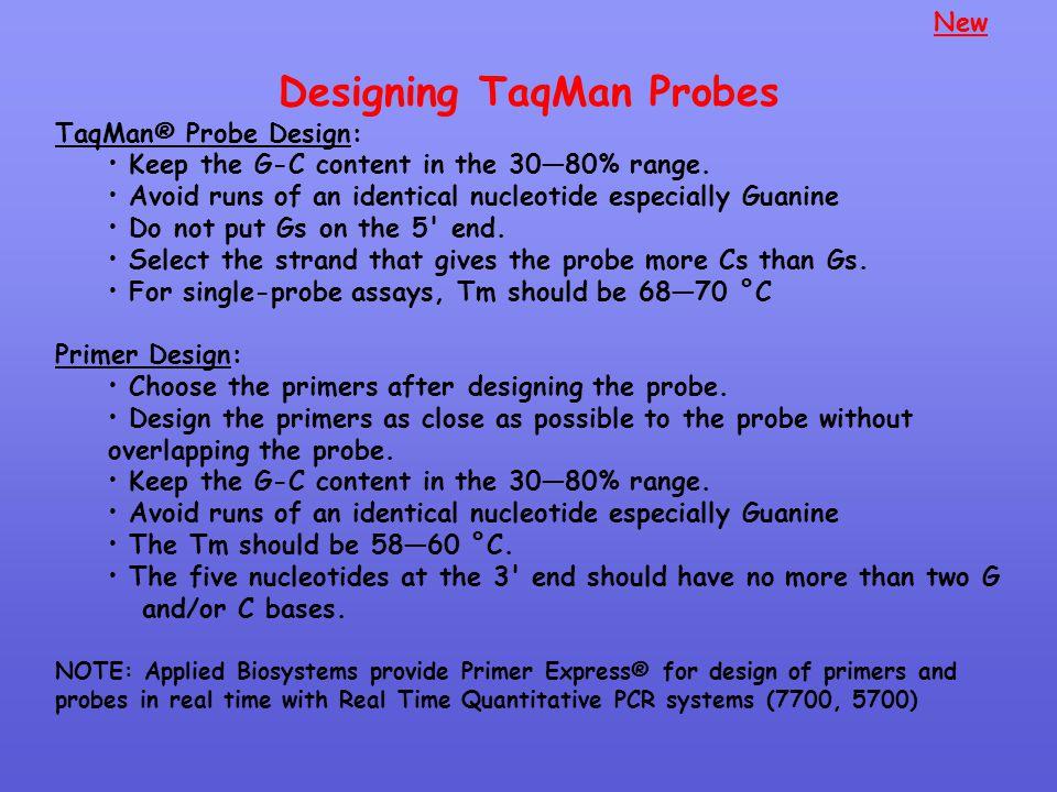 Designing TaqMan Probes