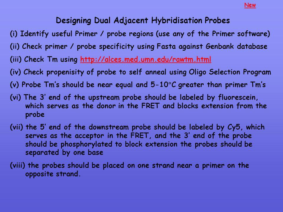 Designing Dual Adjacent Hybridisation Probes