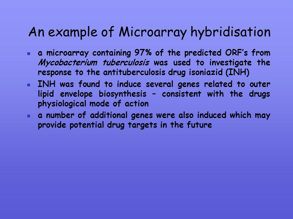 An example of Microarray hybridisation