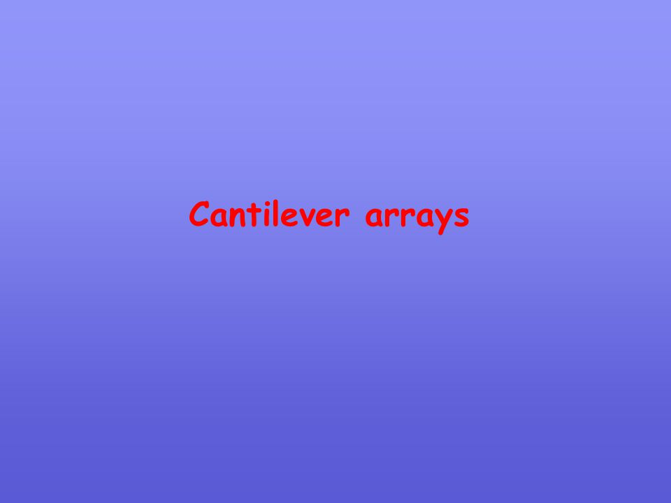 Cantilever arrays