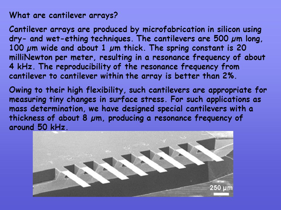 What are cantilever arrays
