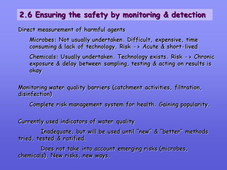 2.6 Ensuring the safety by monitoring & detection