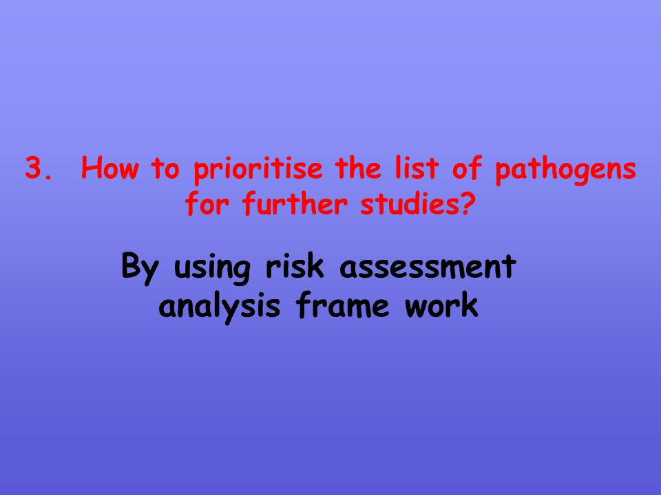 By using risk assessment analysis frame work