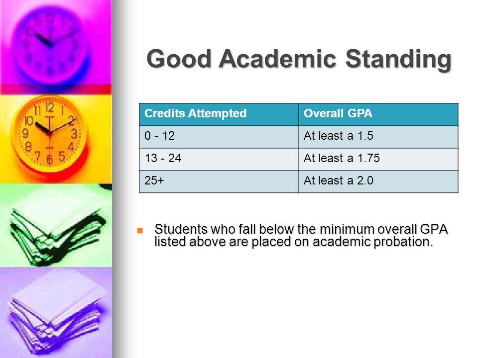 Good Academic Standing