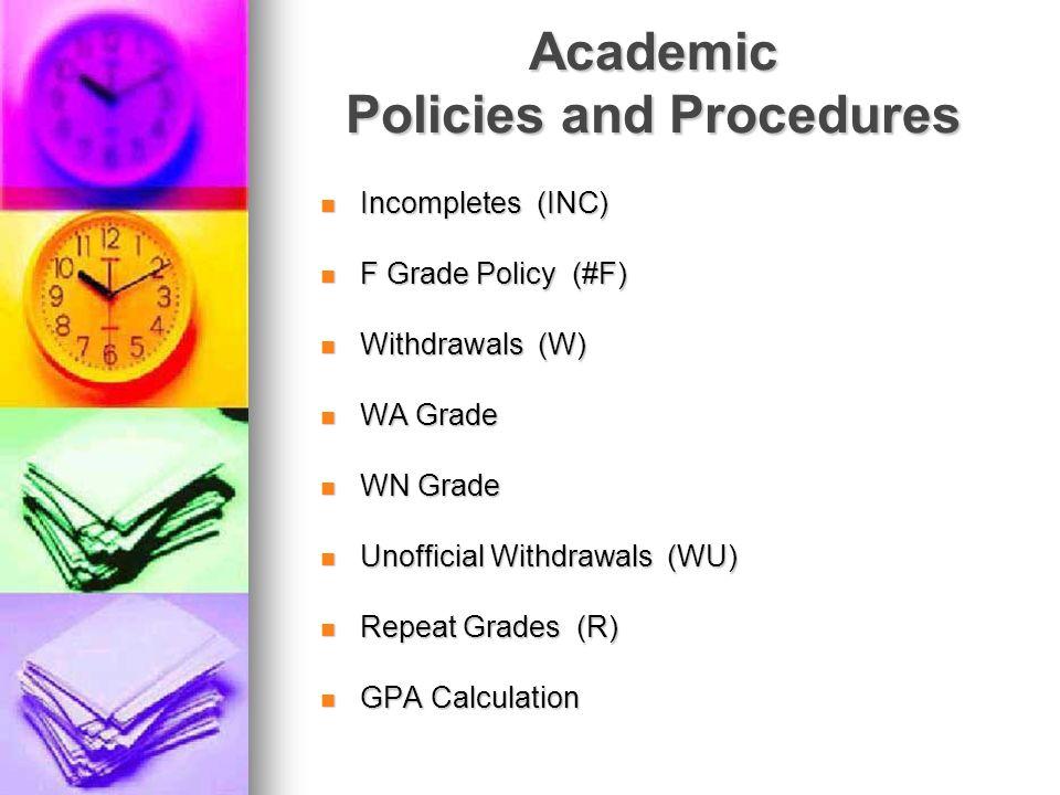 Academic Policies and Procedures