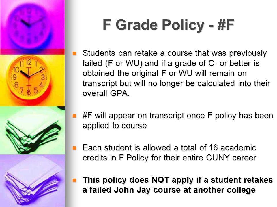 F Grade Policy - #F