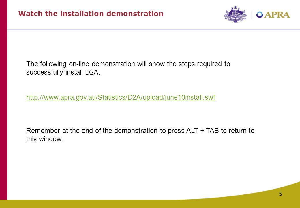 Watch the installation demonstration