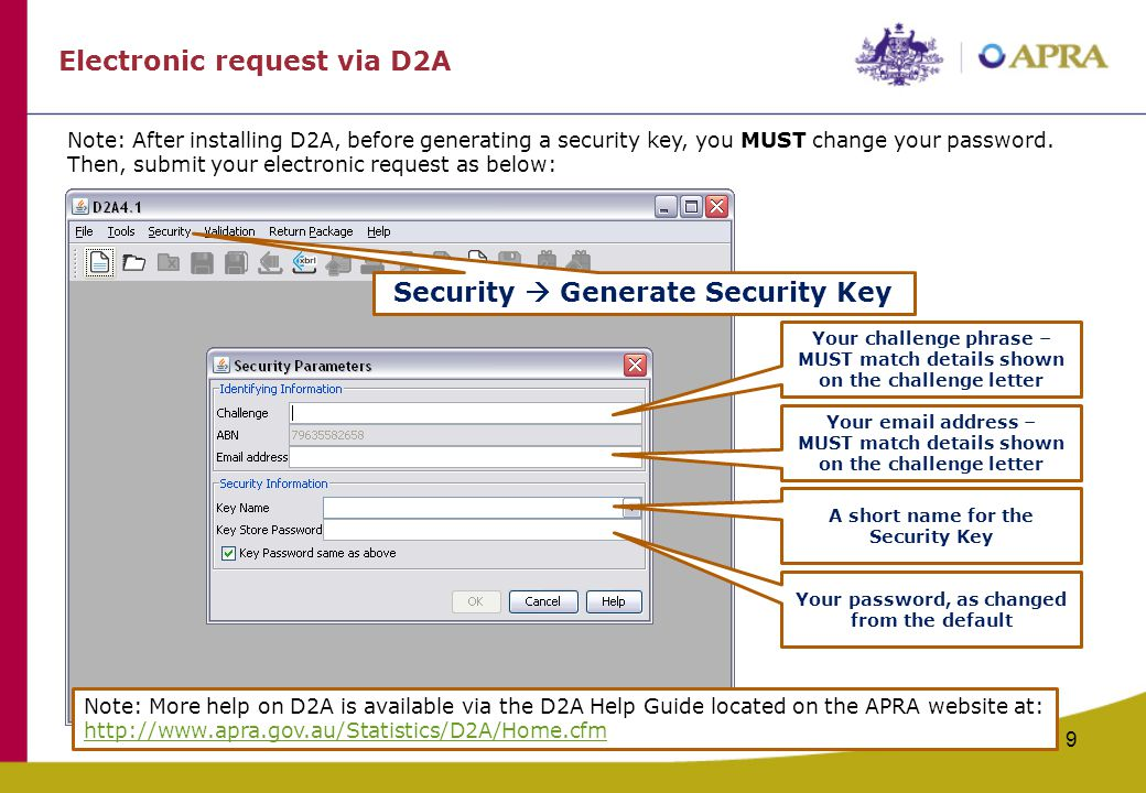 Security  Generate Security Key