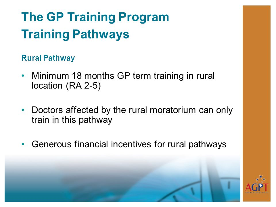 The GP Training Program Training Pathways