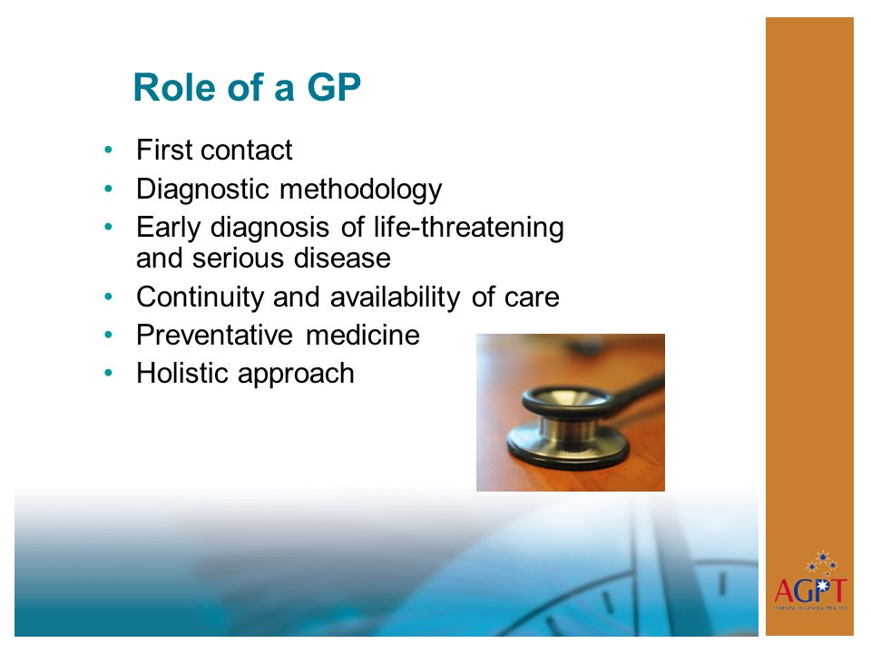 Role of a GP First contact Diagnostic methodology