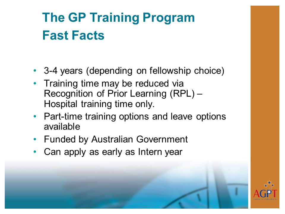 The GP Training Program Fast Facts