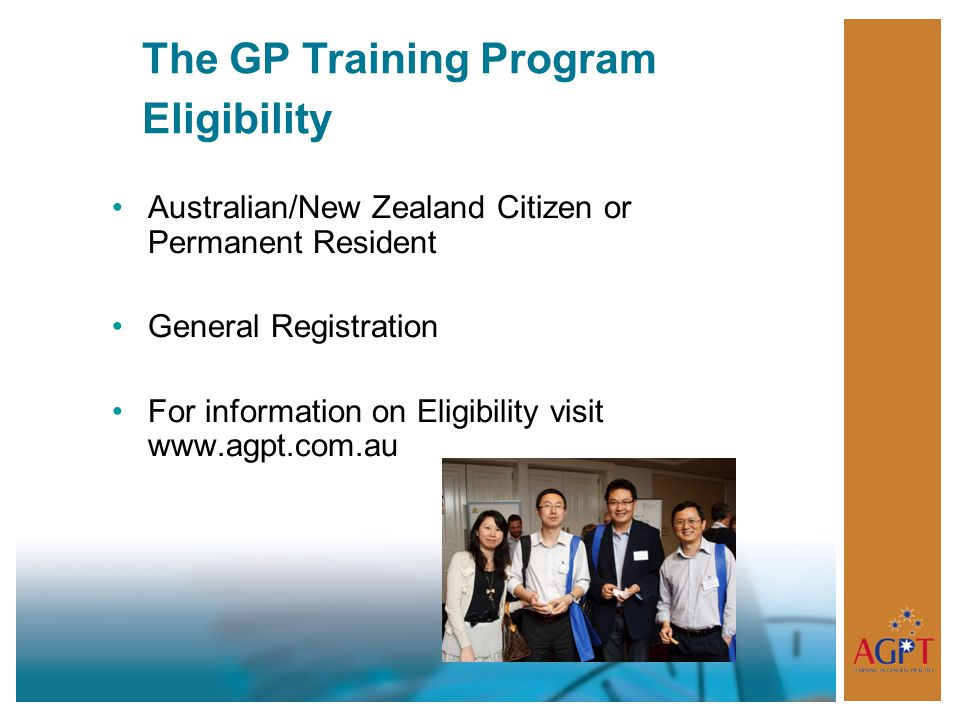 The GP Training Program Eligibility