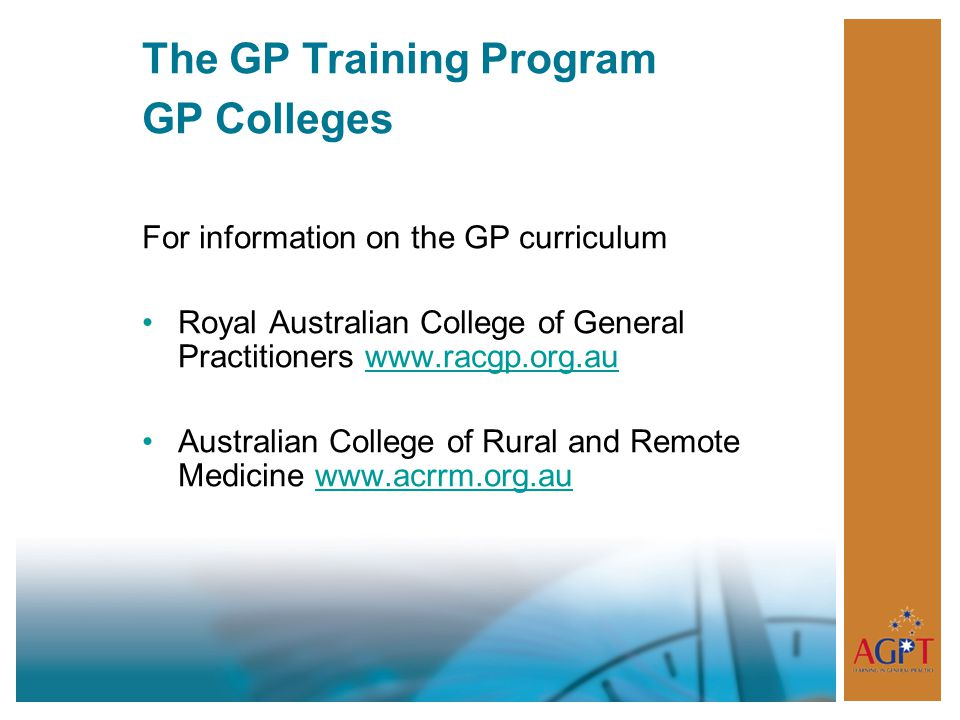 The GP Training Program GP Colleges