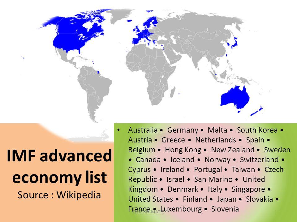 IMF advanced economy list Source : Wikipedia