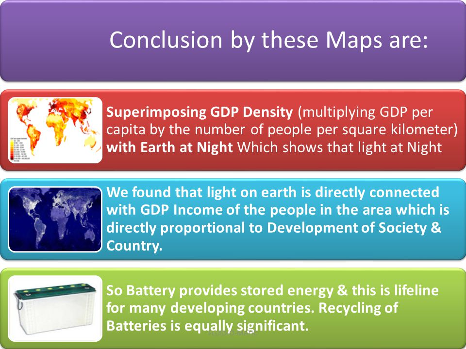Conclusion by these Maps are: