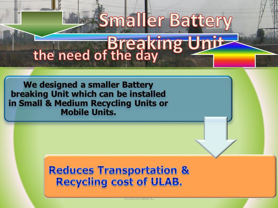 Smaller Battery Breaking Unit