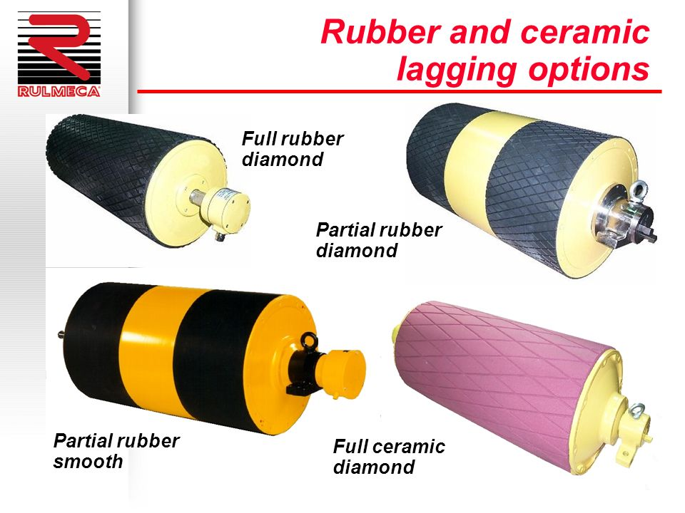 Rubber and ceramic lagging options Full rubber diamond