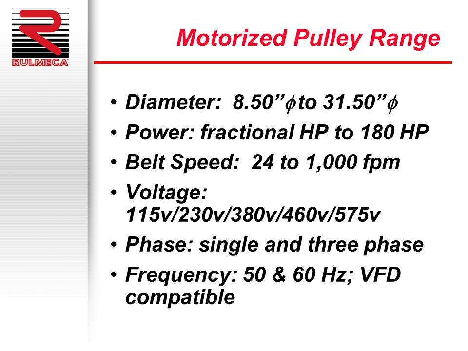 Motorized Pulley Range