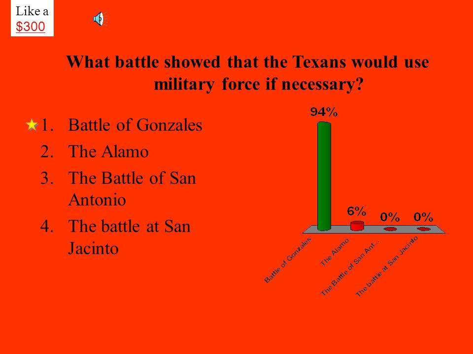 The Battle of San Antonio The battle at San Jacinto