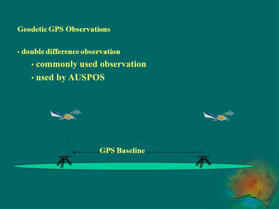 commonly used observation used by AUSPOS