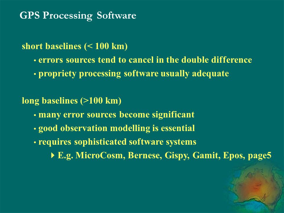 GPS Processing Software