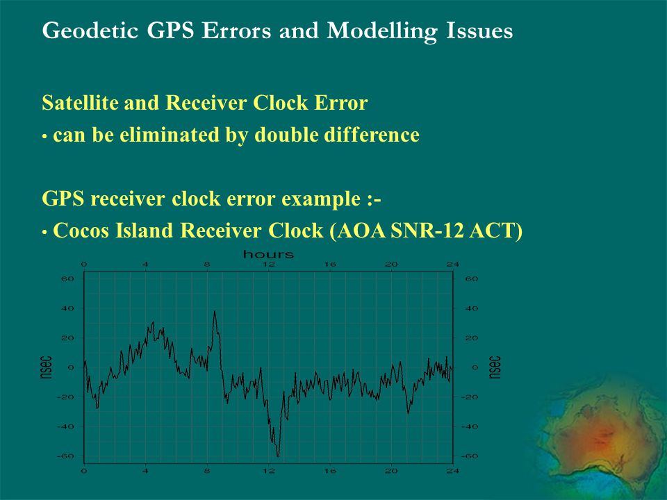 Geodetic GPS Errors and Modelling Issues