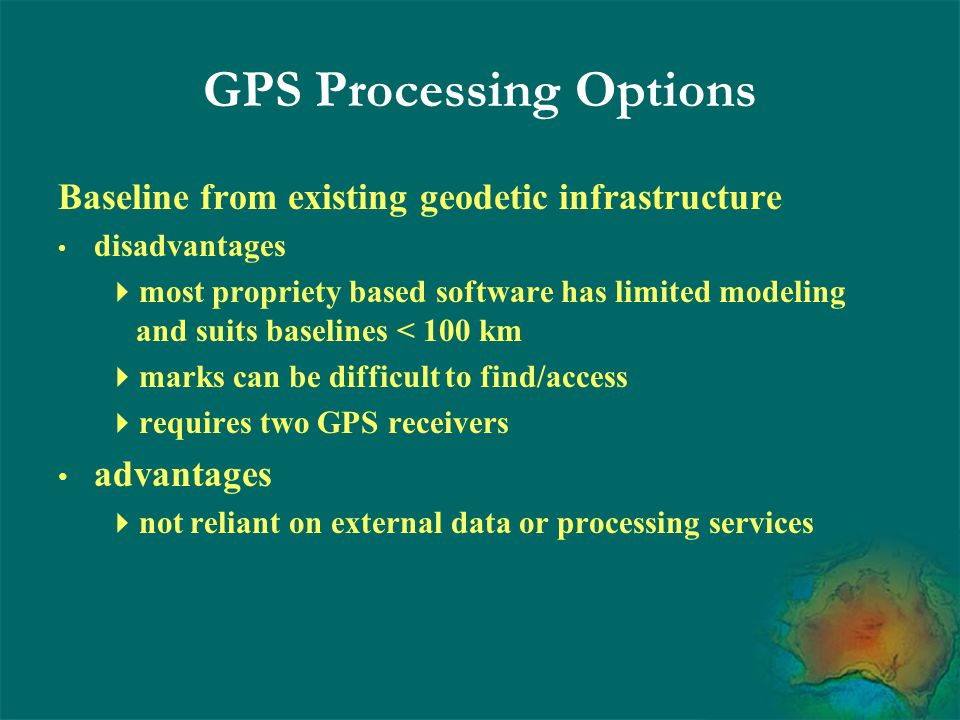 GPS Processing Options