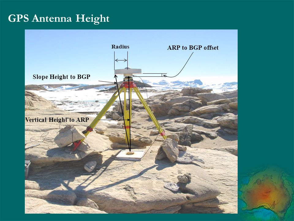 GPS Antenna Height ARP to BGP offset Slope Height to BGP