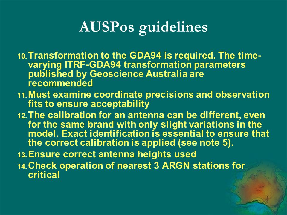 AUSPos guidelines