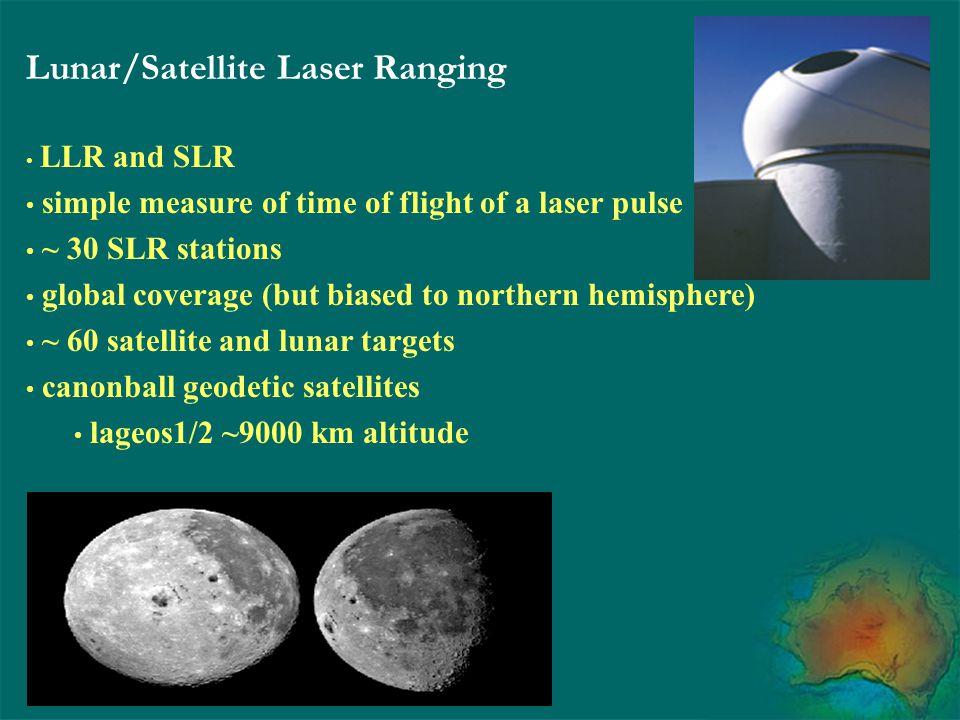 Lunar/Satellite Laser Ranging