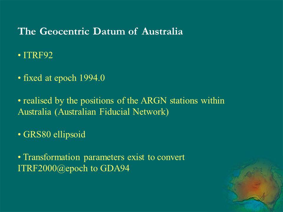 The Geocentric Datum of Australia