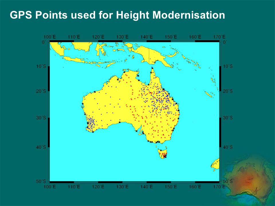 GPS Points used for Height Modernisation