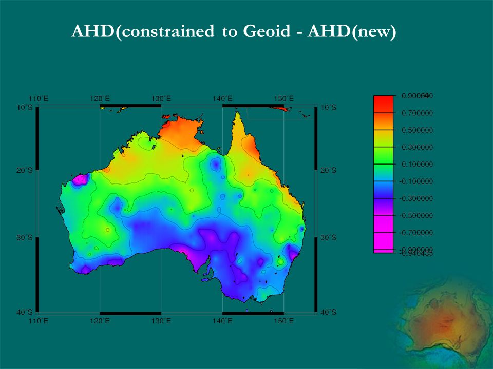 AHD(constrained to Geoid - AHD(new)