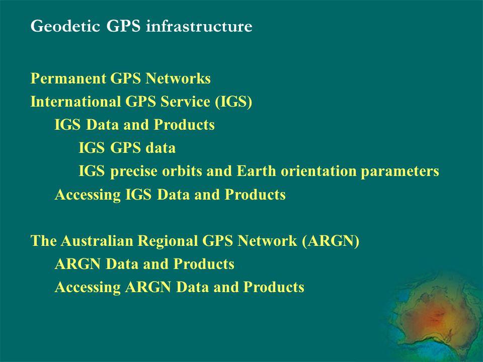Geodetic GPS infrastructure