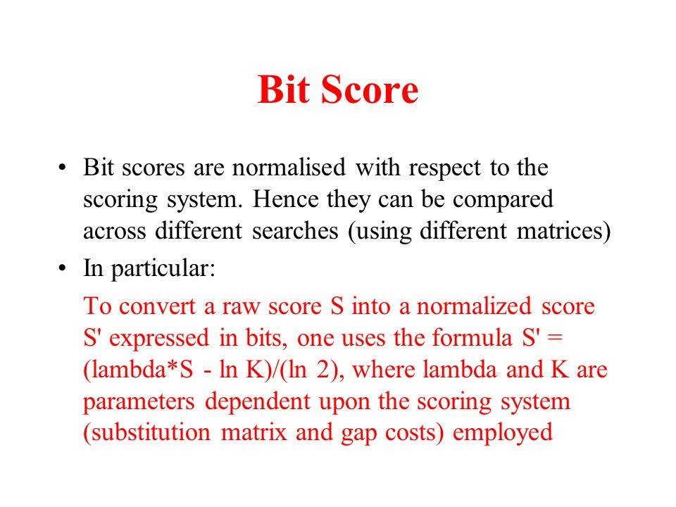 Bit Score