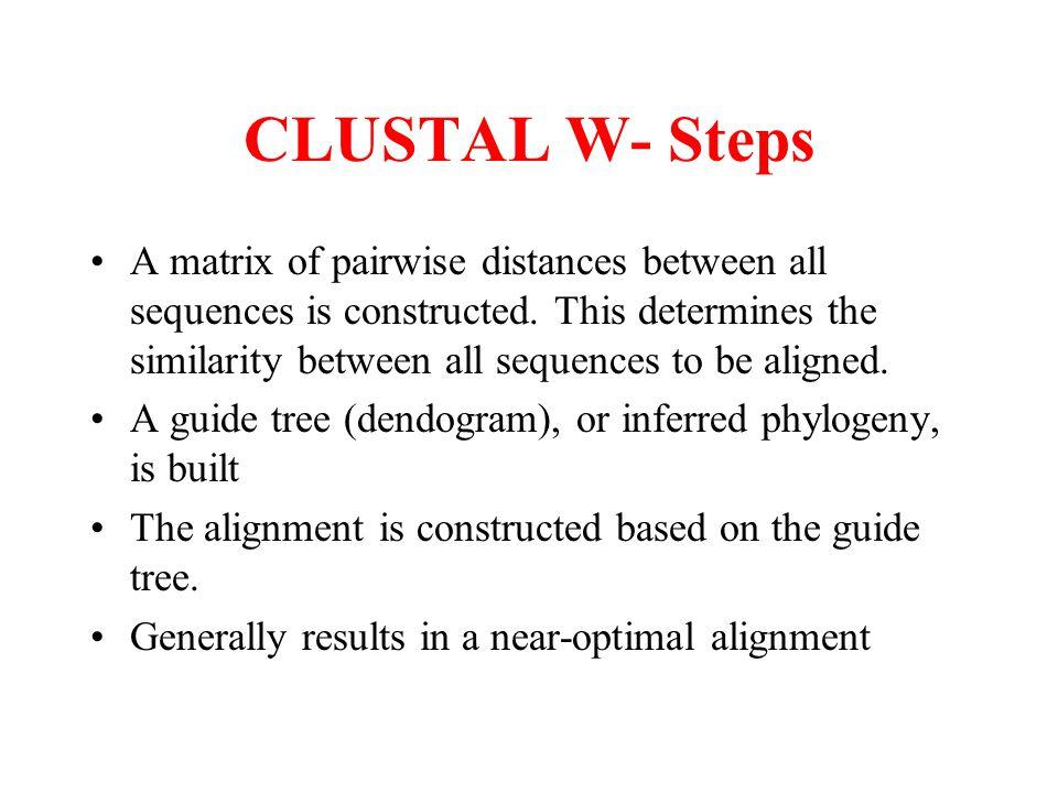 CLUSTAL W- Steps