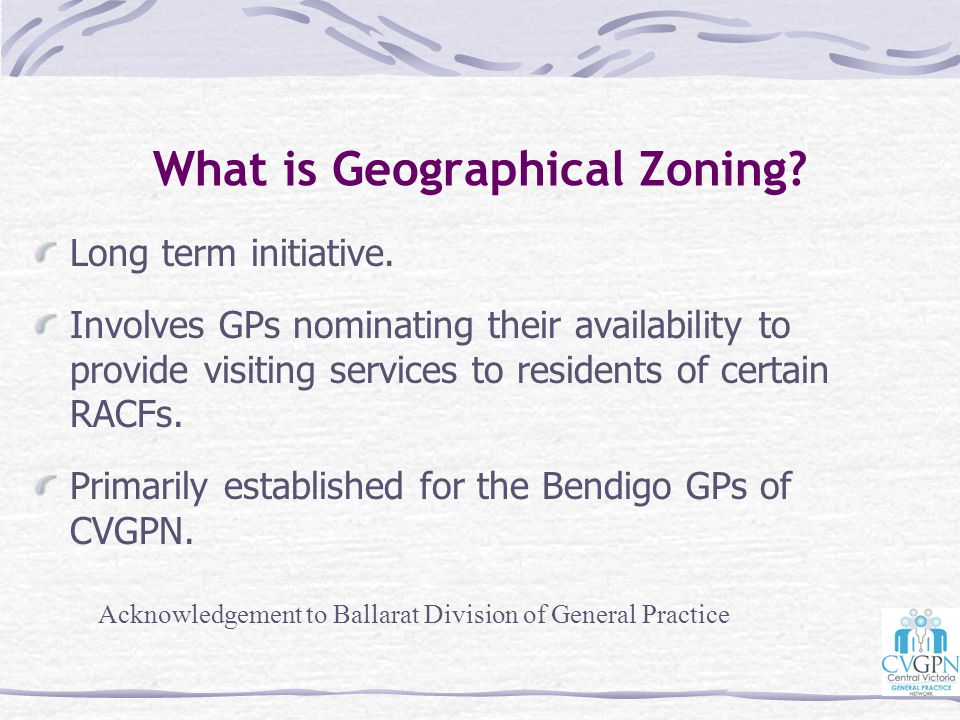 What is Geographical Zoning
