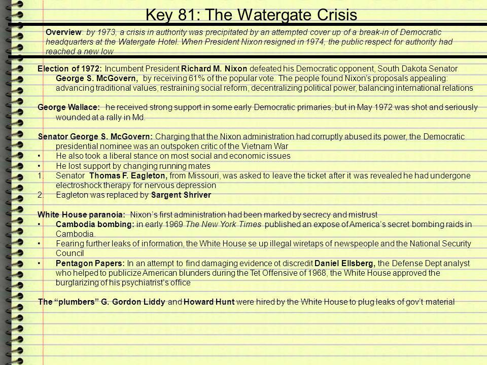 Key 81: The Watergate Crisis