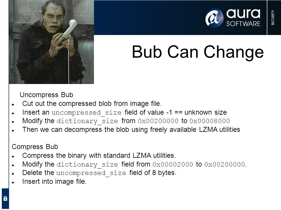 Bub Can Change Uncompress Bub
