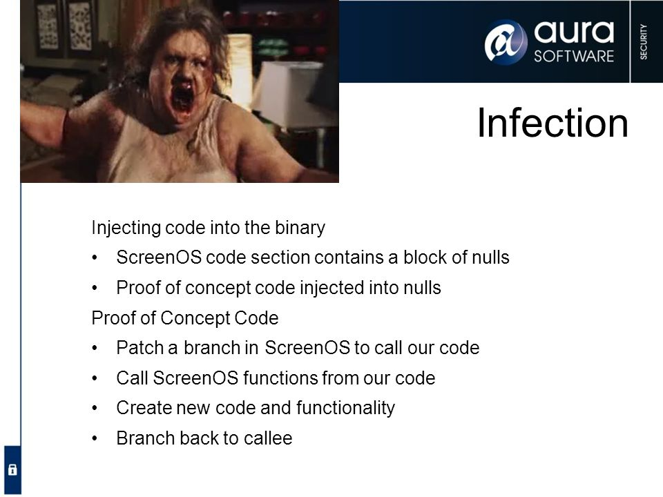 Infection Injecting code into the binary