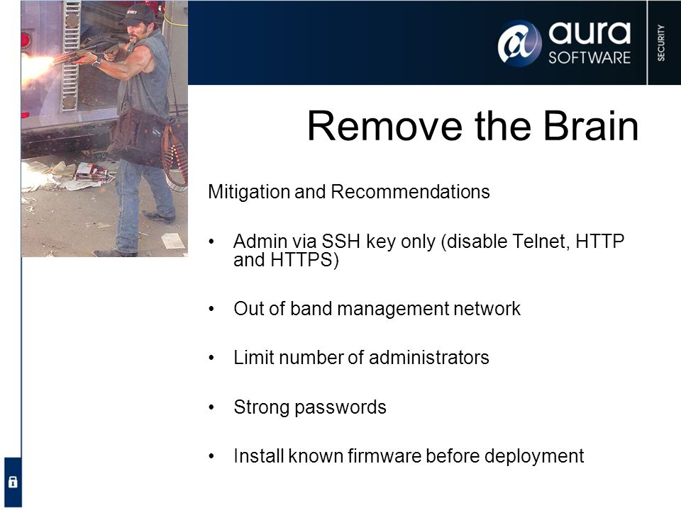 Remove the Brain Mitigation and Recommendations