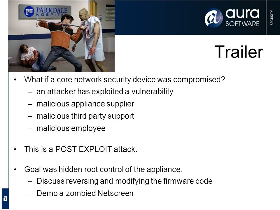 Trailer What if a core network security device was compromised