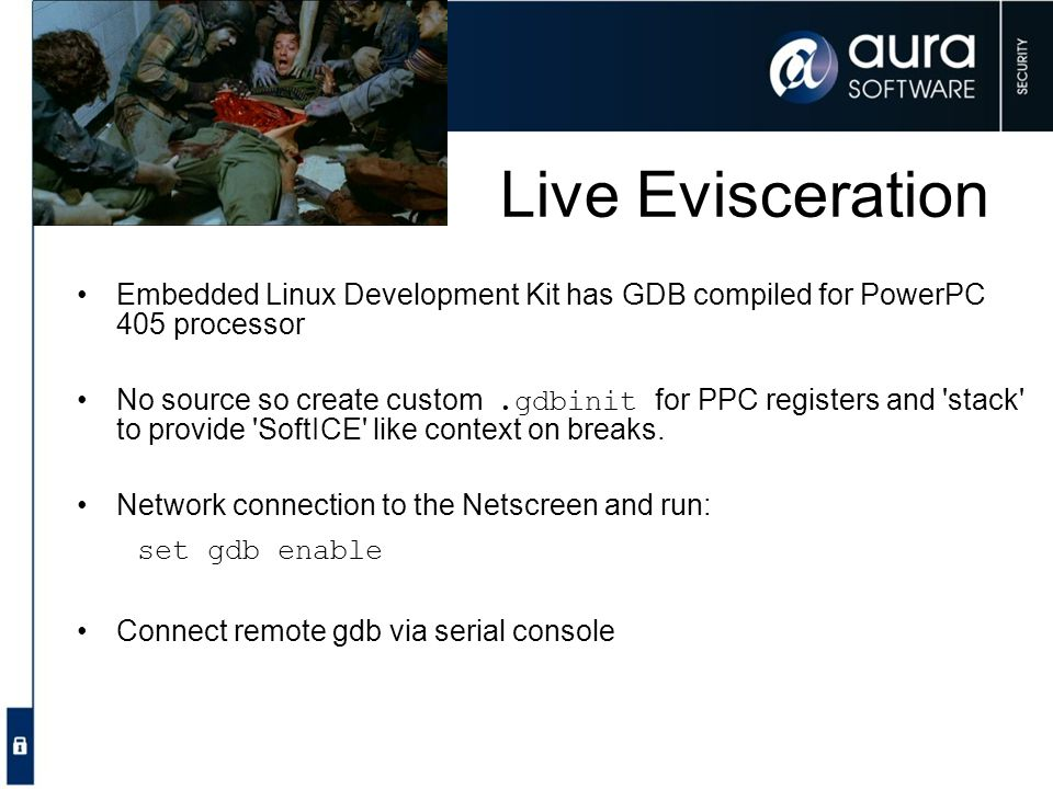 Live Evisceration Embedded Linux Development Kit has GDB compiled for PowerPC 405 processor.
