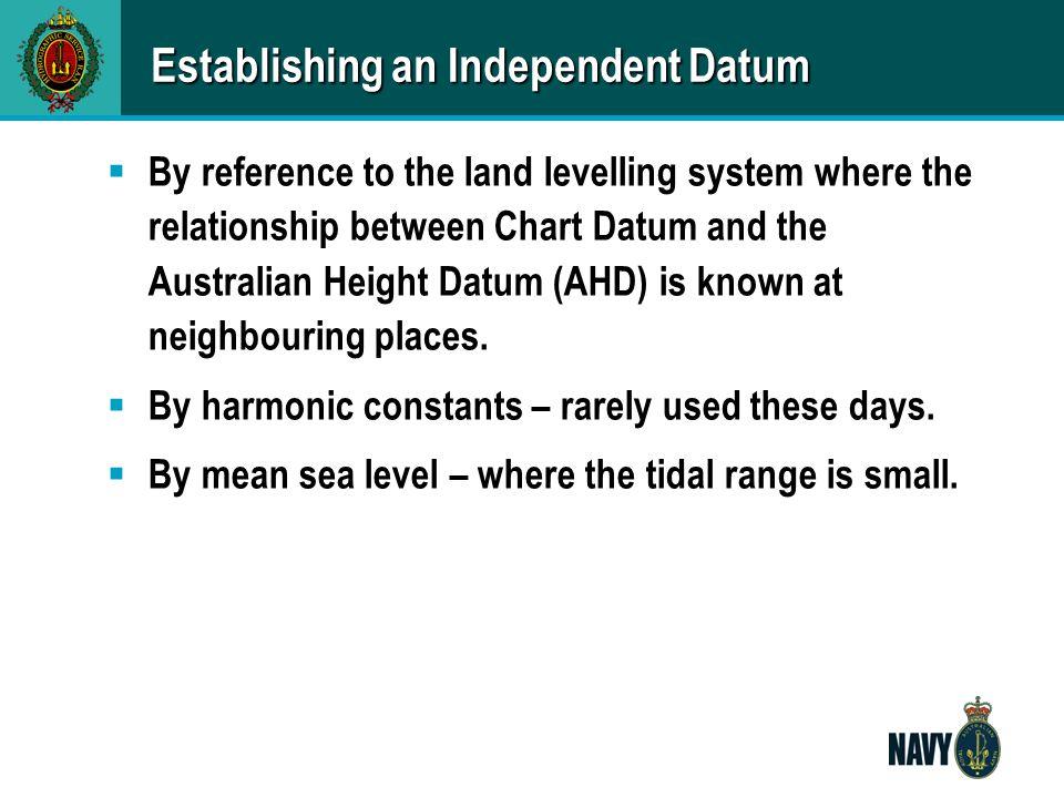 Establishing an Independent Datum