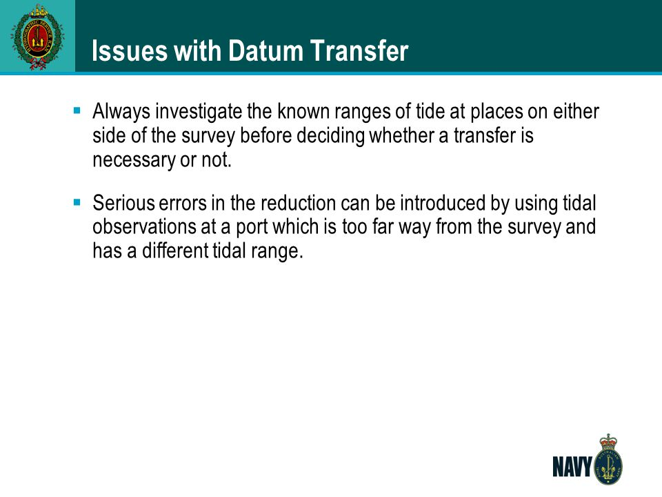 Issues with Datum Transfer