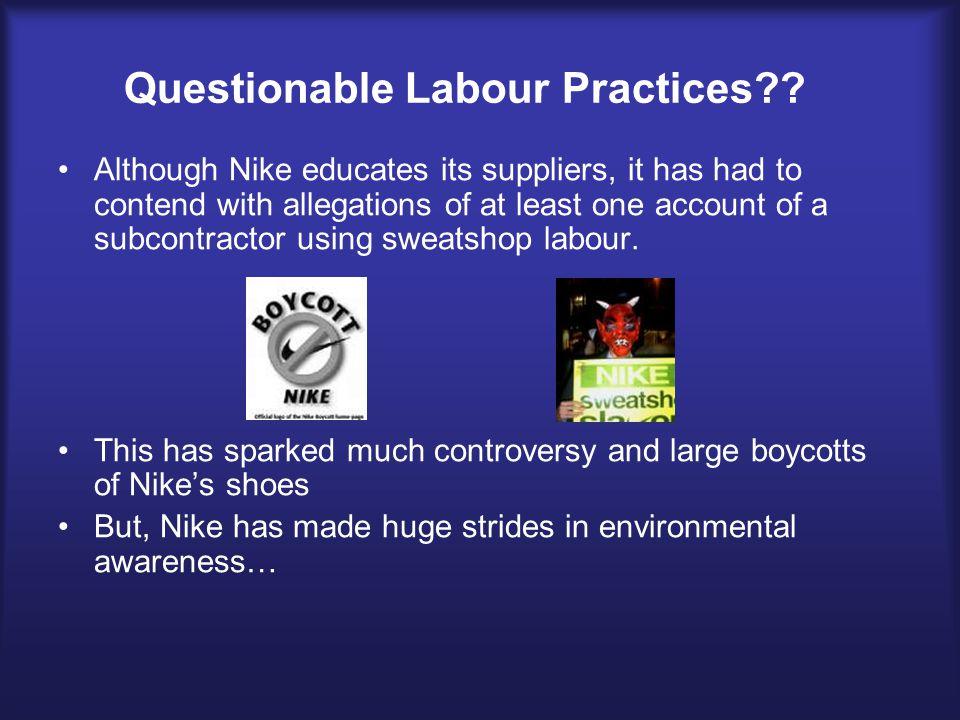 Questionable Labour Practices