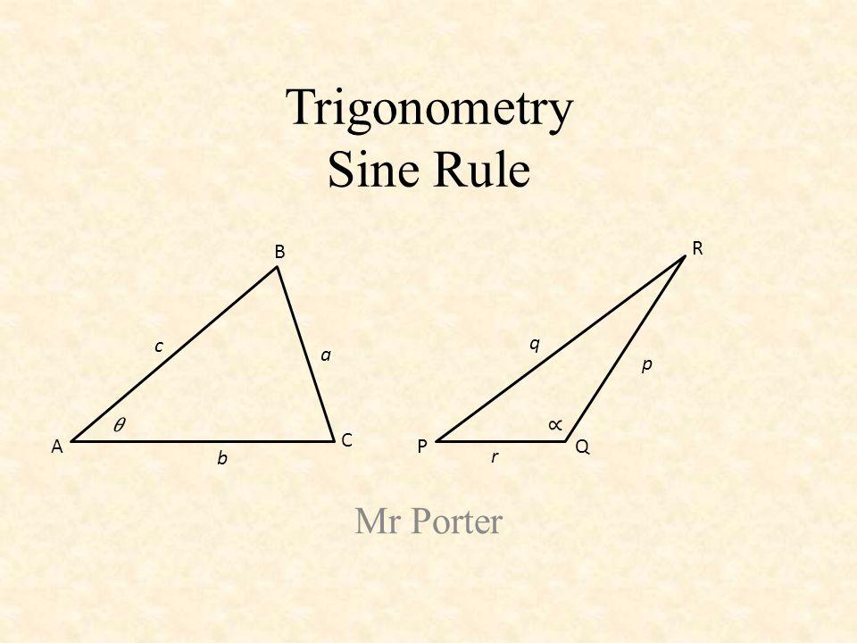 Trigonometry Sine Rule