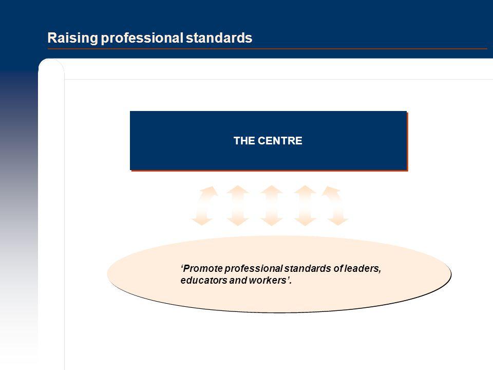 Raising professional standards