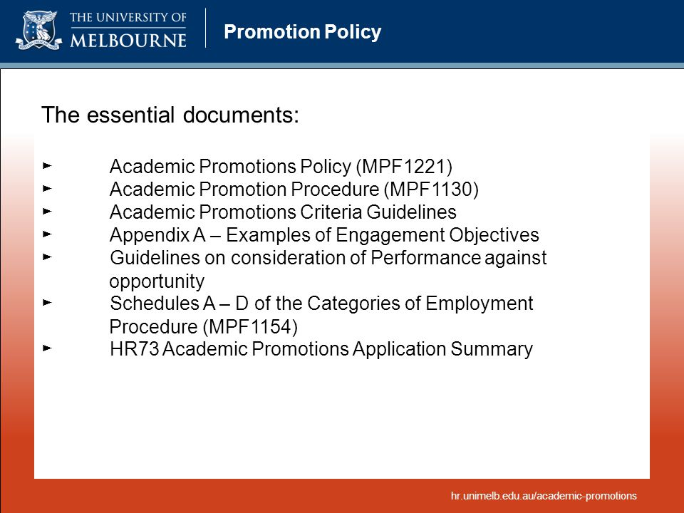 The essential documents: